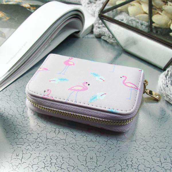 Визитница «Фламинго», горизонтальная, 1 ряд, 9 картхолдеров, цвет сиреневый
