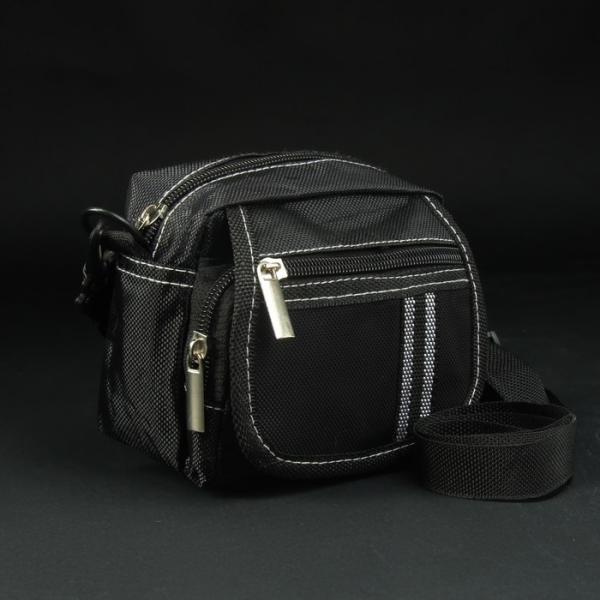 Сумка поясная, отдел на молнии, 2 наружных кармана, регулируемый ремень, цвет чёрный