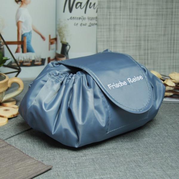 Косметичка-сумочка, отдел на шнуре, цвет тёмно-серый