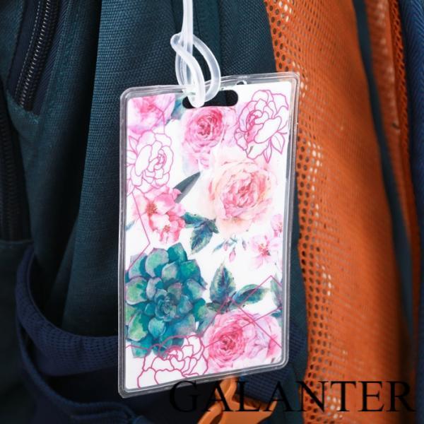 Фото Чемоданы и аксессуары, Аксессуары, Бирки на чемодан Бирка на чемодан «Цветы», 6.5 × 10 см