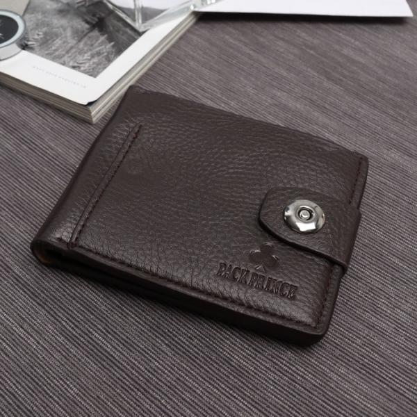 Портмоне мужское, 2 отдела, для кредитных карт, для монет, наружный карман, цвет коричневый