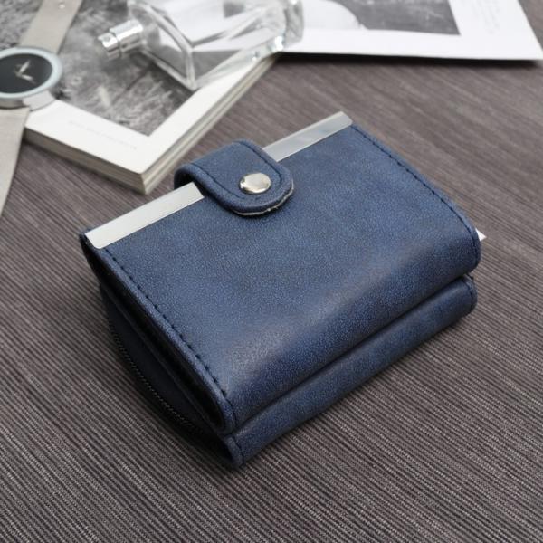 Кошелёк женский, 2 отдела на молнии, для кредитных карт, цвет синий
