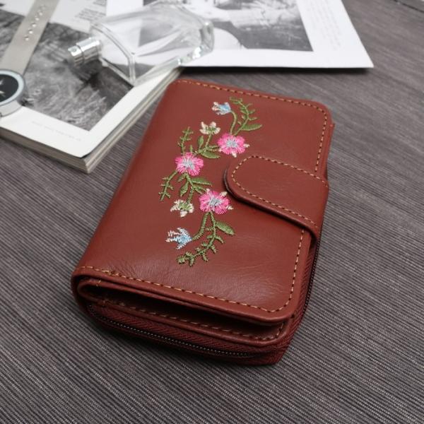 Кошелёк женский, 2 отдела на молнии, для кредитных карт, цвет светло-коричневый