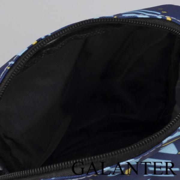 Фото Сумки, Женские сумки, На длинном ремне Сумка мужская, отдел на молнии, 2 наружных кармана, регулируемый ремень, цвет синий