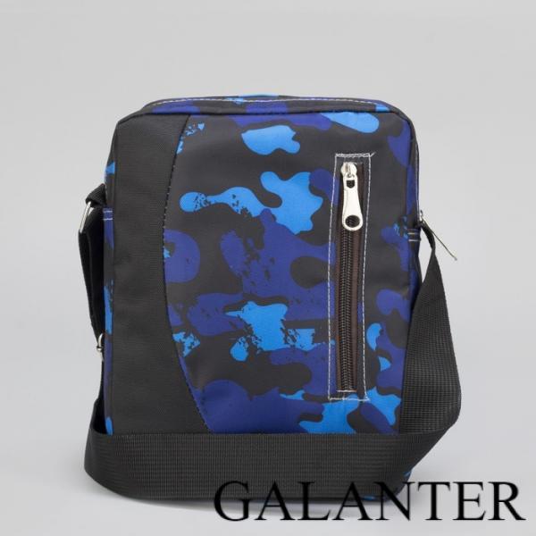 Фото Сумки, Женские сумки, На длинном ремне Сумка мужская, отдел на молнии, наружный карман, регулируемый ремень, цвет синий