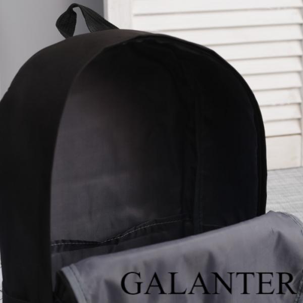 Фото Рюкзаки Рюкзак молодёжный, отдел на молнии, наружный карман, цвет чёрный