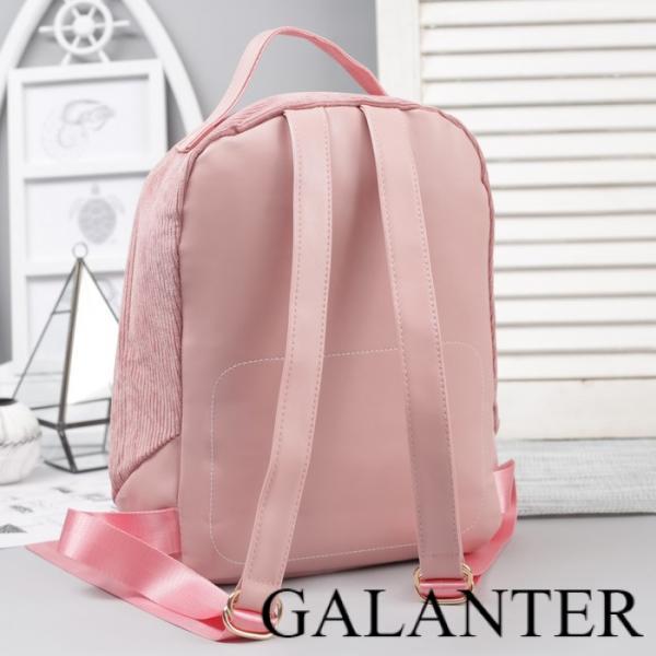 Фото Рюкзаки Рюкзак молодёжный, отдел на молнии, наружный карман, цвет розовый