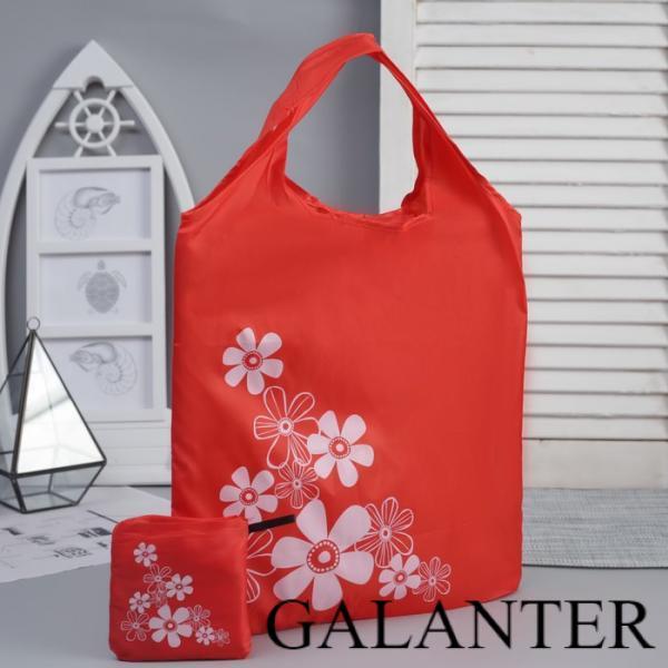 Фото Хозяйственные сумки Сумка хозяйственная складная, 1 отдел, цвет красный