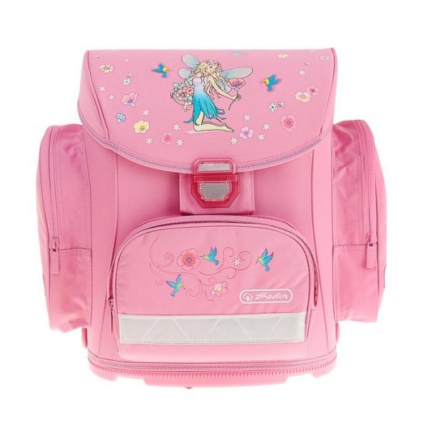 Ранец на замке Herlitz MIDI 38х37х22 см для девочек, Flower fairy, розовый