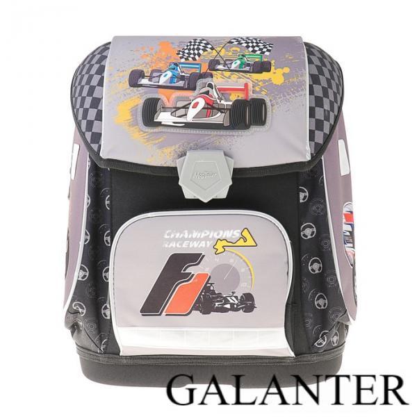 Фото Рюкзаки, Школьные рюкзаки Ранец на замке Mag Taller Ezzy II, 38 х 32 х 23, для мальчика, RACEWAY, серый/чёрный