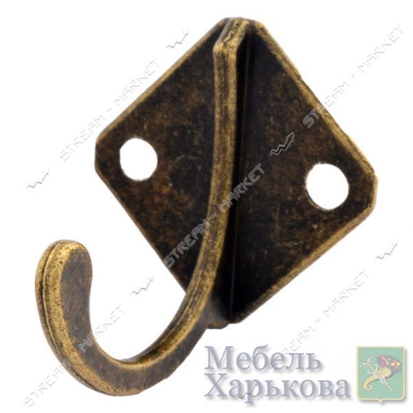 Крючок мебельный Ромбик бронза - Мебельные крючки и подвесы в Харькове