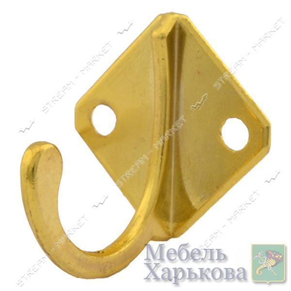 Крючок мебельный Ромбик золото - Мебельные крючки и подвесы в Харькове