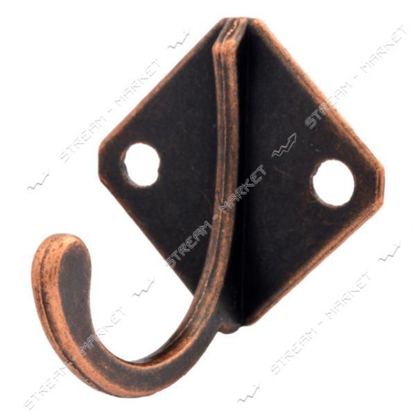 Крючок мебельный Ромбик медь