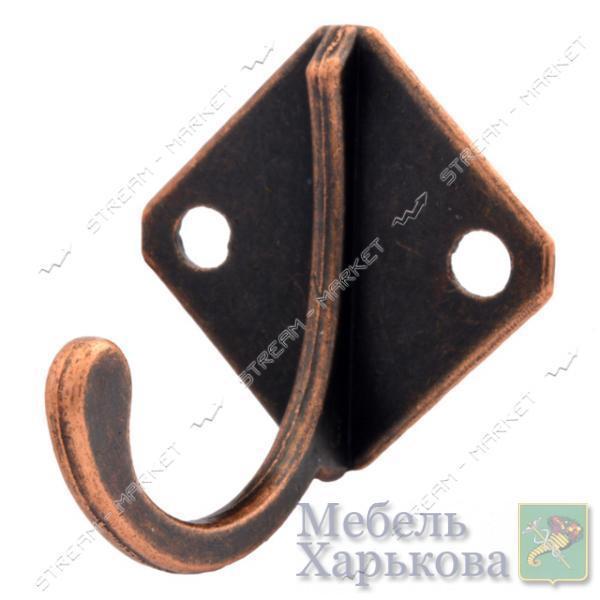 Крючок мебельный Ромбик медь - Мебельные крючки и подвесы в Харькове