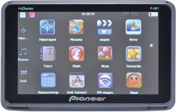 "GPS навигатор Pioneer Р-1 5"" Bluetooth + FM-модулятор + AV-in"