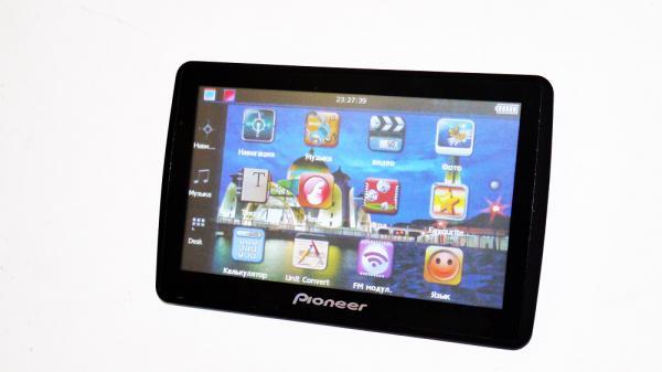 "GPS навигатор Pioneer Р-1 7"" 8GB +IGO для грузовых авто + FM-модулятор + AV-in"