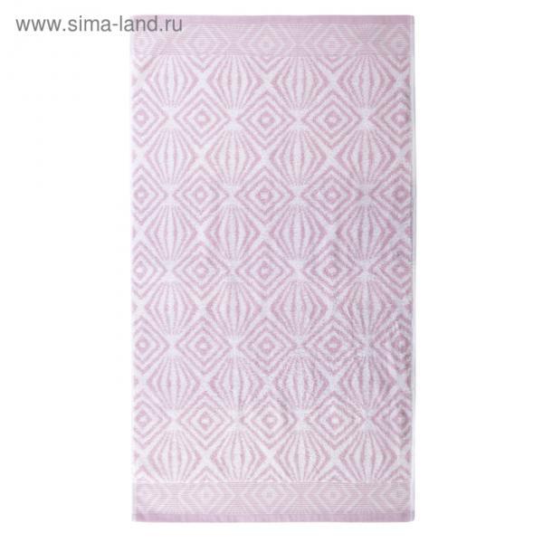 """Полотенце махровое """"Иллюзия"""" 65х135 см,розовый,450 г/м2, 100% хлопок"""