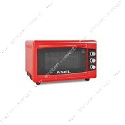 Духовка Asel 1300 Вт 50 л таймер цвет красный