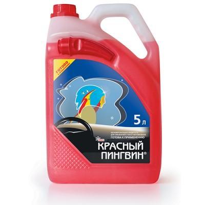 Жидкость для омывания стекол автомобиля XADO Красный Пингвин (зима -22С) 5L.