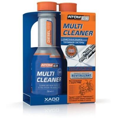 Очиститель топливной системы XADO Atomex Multi Cleaner с Ревитализантом (250 ml).