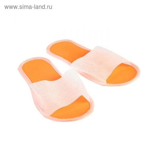 "Тапочки на подошве ""Эва"", оранжевая подошва, 3 мм, 43 р-р"