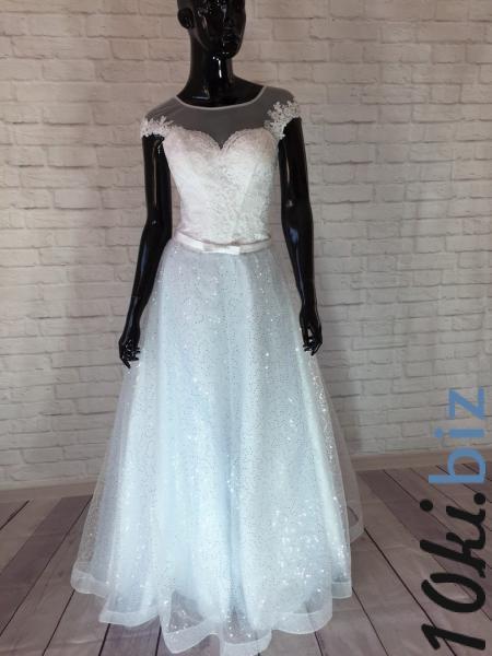 Нежное свадебное платье а-силуэт Лагуна Свадебные платья в Москве