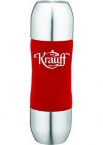Фото Термосы Термос вакуумный с двойной крышкой-чашкой KRAUFF 350 мл. красный 26-178-020