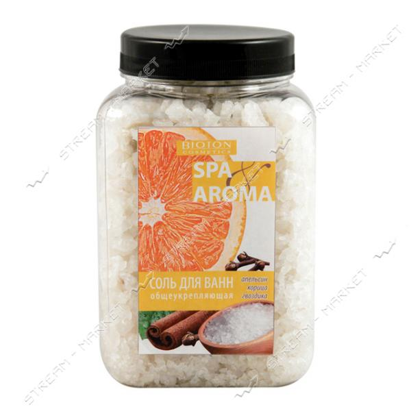Морская соль для ванн Bioton Cosmetics Spa Aroma общеукрепляющая апельсин корица гвоздика 750 г