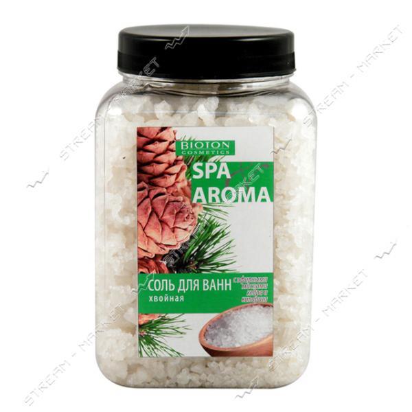 Морская соль для ванн Bioton Cosmetics Spa Aroma хвойная с эфирными маслами кедра и кипариса 500 г