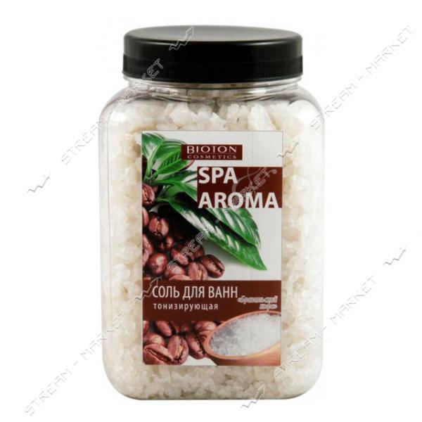 Морская соль для ванн Bioton Cosmetics тонизирующая бразильский кофе 750 г