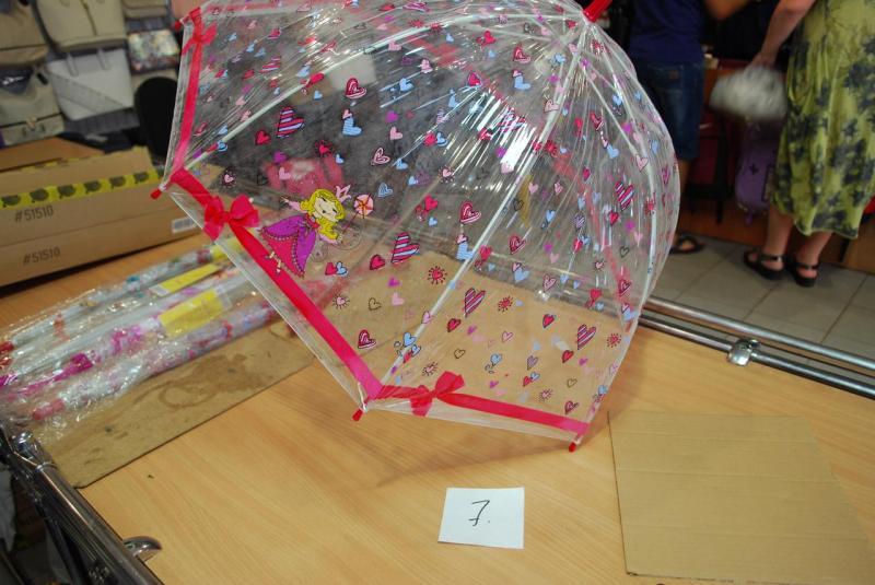 Зонт детский прозрачный Zest 51510-7 ПВХ грибок