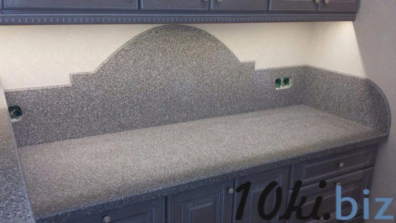 Столешница и Стеновая панель (скиналь) фигурная из искусственного камня на заказ в Гродно купить в Лиде - Стеновые панели для кухни