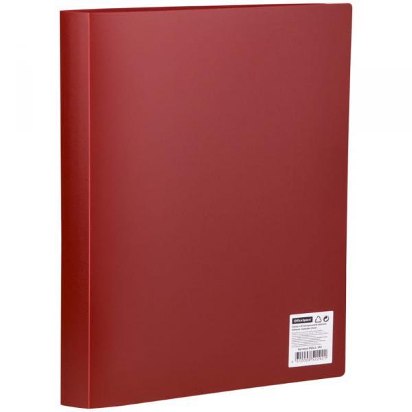 Папка с 60 вкладышами OfficeSpace, 35мм, 400мкм, красная