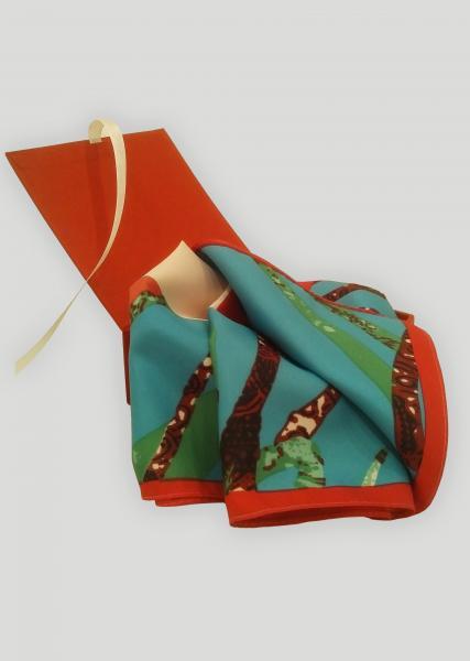 Фото Шарфы и платки Платок женский шелковый