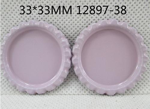 Фото Серединки ,кабашоны, Крышечки,эпоксидная наклейка Металическая  крышечка  Розово - пепельного  цвета , по  наружи  33 мм.  Внутрений  размер  25 мм.