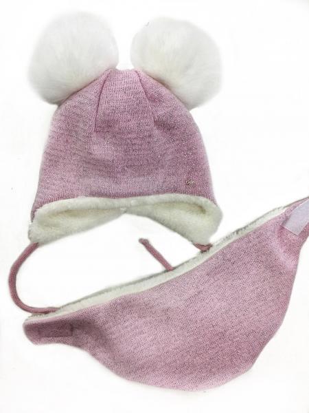 ЗИМА. Шапка + шарф для девочки 44-46 рр, разные цвета