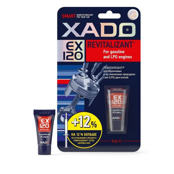 Ревитализант XADO EX120 для защиты и ремонта бензиновых и газовых двигателей.