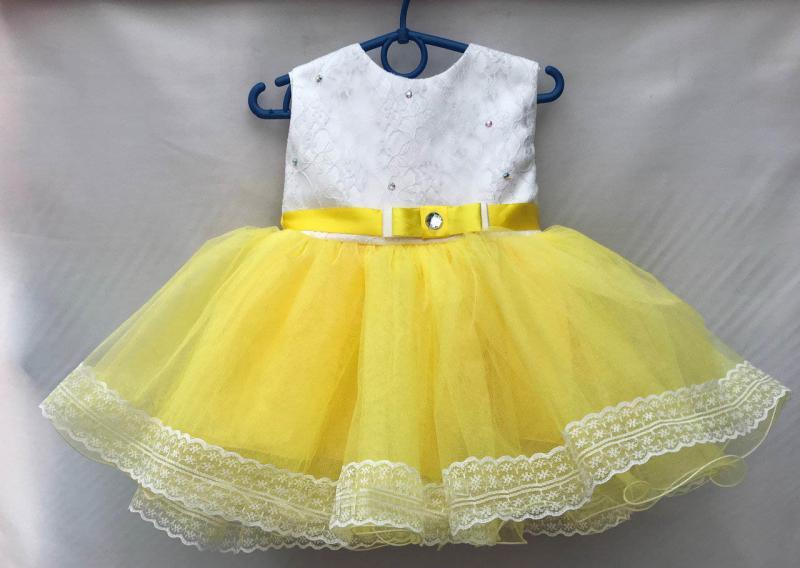 Платье желтое 1,5-2 года
