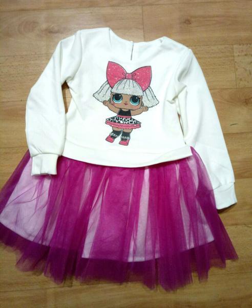Платье пачка ЛОЛ от 3 до 8 лет
