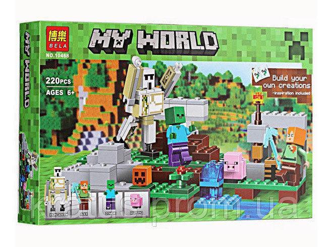 """Конструктор Minecraft """"Железный голем"""" 220 деталей, Bela 10468 / Lele 79280 / Lepin 18001"""