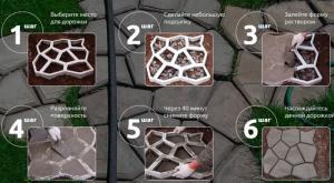 Фото Дача, сад и огород, Садовый инвентарь Форма пластиковая для тротуарных дорожек 60х50 см