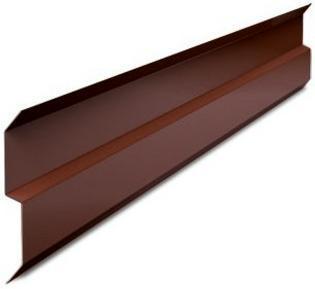Планка прижимная примыкания Luxard коричневая