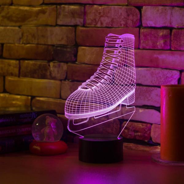 3D светильник Фигурный конек