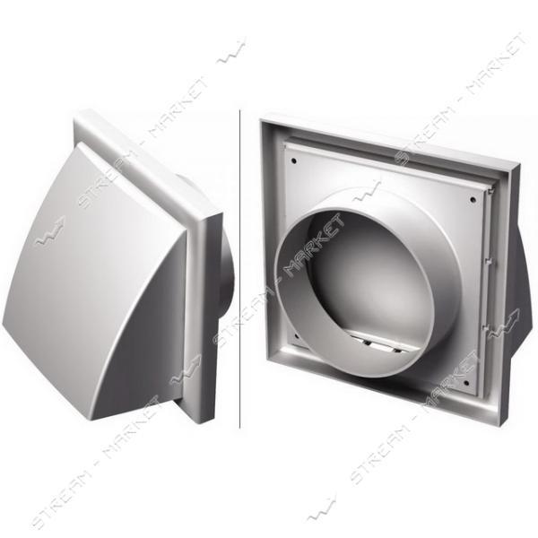 VENTS Решетка вентиляционная МВ 102 ВК (флянец с клапаном) белая