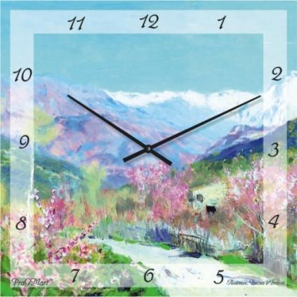 Часы настенные с немецким механизмом из стекла до 50см,ассортимент