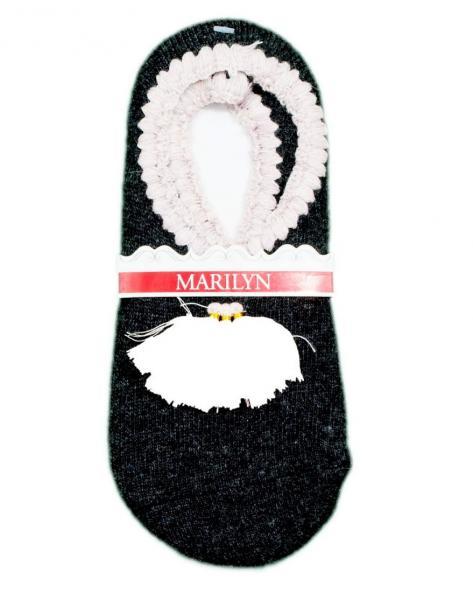 Балетки тапочки женские BALETKI MARILYN ANGORA L40_conf носочки-чешки 250 DEN Женские чулочно-носочные изделия Польша