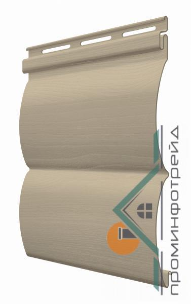 Фото Металлический сайдинг / Сайдинг ПВХ, FaSiding , Блокхаус FaSiding - фасадный виниловый сайдинг - Панель Грецкий орех БлокХаус 3,66 х 0,23 м