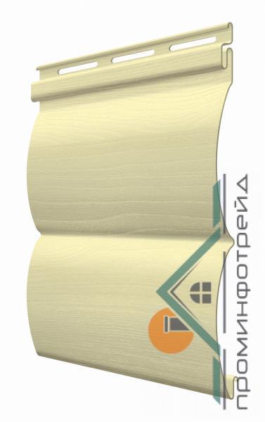 Фото Металлический сайдинг / Сайдинг ПВХ, FaSiding , Блокхаус FaSiding - фасадный виниловый сайдинг - Панель Мимоза БлокХаус 3,66 х 0,23 м