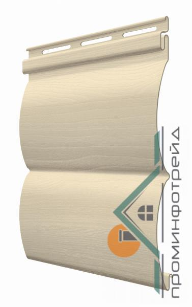 Фото Металлический сайдинг / Сайдинг ПВХ, FaSiding , Блокхаус FaSiding - фасадный виниловый сайдинг - Панель Миндаль БлокХаус 3,66 х 0,23 м
