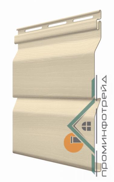 Фото Металлический сайдинг / Сайдинг ПВХ, FaSiding , Стандарт FaSiding - фасадный виниловый сайдинг - Панель Миндаль 3,85 х 0,255 м